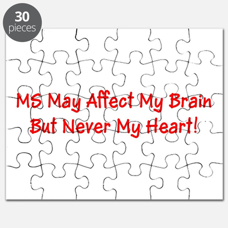 MS Affects My Brain Never My Heart Puzzle