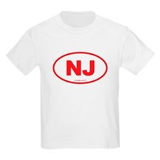 New Jersey NJ Euro Oval T-Shirt