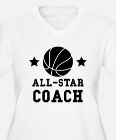 All Star Basketball Coach Plus Size T-Shirt