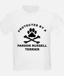 Protected By A Parson Russell Terrier T-Shirt