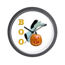 Greyhound Boo Wall Clock