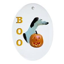 Greyhound Boo Oval Ornament