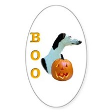 Greyhound Boo Oval Decal