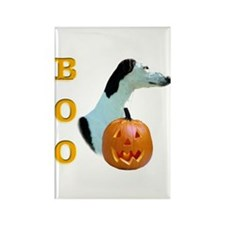 Greyhound Boo Rectangle Magnet