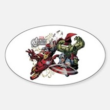 Avengers Group Sticker (Oval)