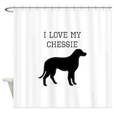 I Love My Chesapeake Bay Retriever Shower Curtain