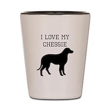 I Love My Chesapeake Bay Retriever Shot Glass