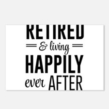 Retired happily ever after Postcards (Package of 8