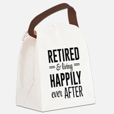 Retired happily ever after Canvas Lunch Bag