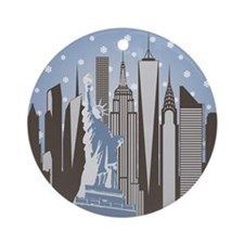 Nyc Snowflakes Ornament (round)