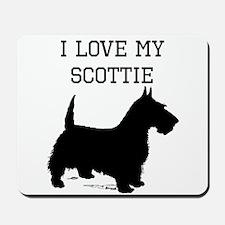 I Love My Scottie Mousepad