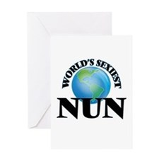 World's Sexiest Nun Greeting Cards