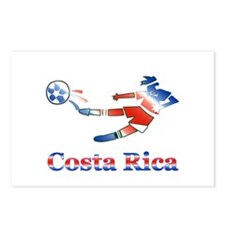 Costa Rica Soccer Player Postcards (Package of 8)