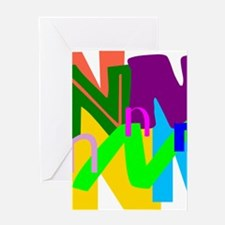 Initial Design (N) Greeting Cards