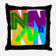 Initial Design (N) Throw Pillow