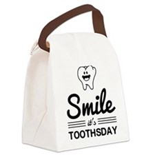Smile it's toothsday Canvas Lunch Bag