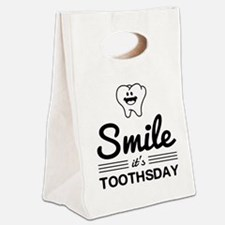 Smile it's toothsday Canvas Lunch Tote