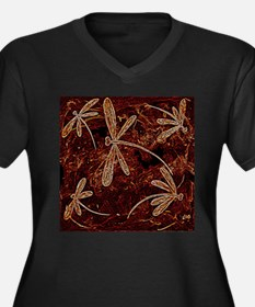 Dragonfly Toffee Flit Plus Size T-Shirt