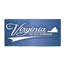 Virginia State of Mine Beach Towel