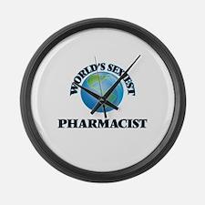 World's Sexiest Pharmacist Large Wall Clock
