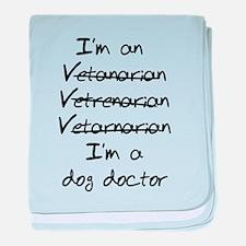 veterinarian dog doctor baby blanket