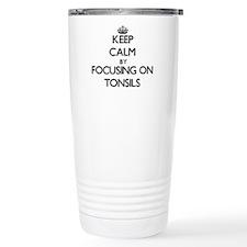 Keep Calm by focusing o Thermos Mug