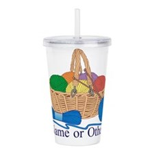 Personalized Knitting Acrylic Double-wall Tumbler