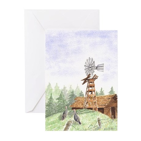 FARM'S BACKYARD Greeting Cards (Pk of 10)