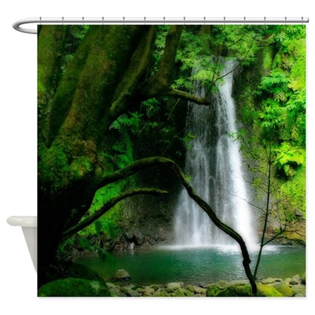 Waterfall In Azores Shower Curtain