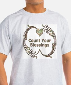 Count Your Blessings Ash Grey T-Shirt