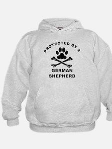 Protected By A German Shepherd Hoodie