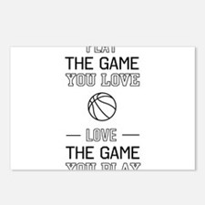 Basketball love the game Postcards (Package of 8)