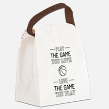 Basketball love the game Canvas Lunch Bag