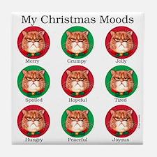 Christmas Moods Tile Coaster