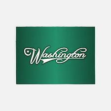 Washington State of Mine 5'x7'Area Rug