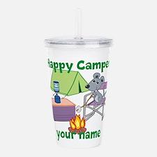 Custom Happy Camper Mouse Acrylic Double-wall Tumb