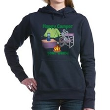 Custom Happy Camper Mouse Women's Hooded Sweatshir