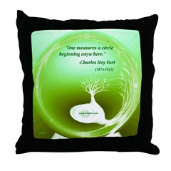 A Circle Beginning Anywhere Throw Pillow