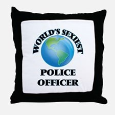 World's Sexiest Police Officer Throw Pillow