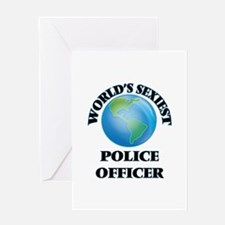 World's Sexiest Police Officer Greeting Cards