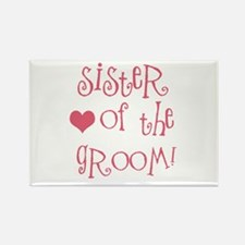 Sister of the Groom Rectangle Magnet