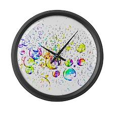 Cute Music Large Wall Clock
