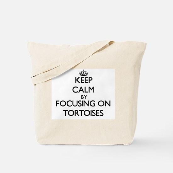 Keep Calm by focusing on Tortoises Tote Bag