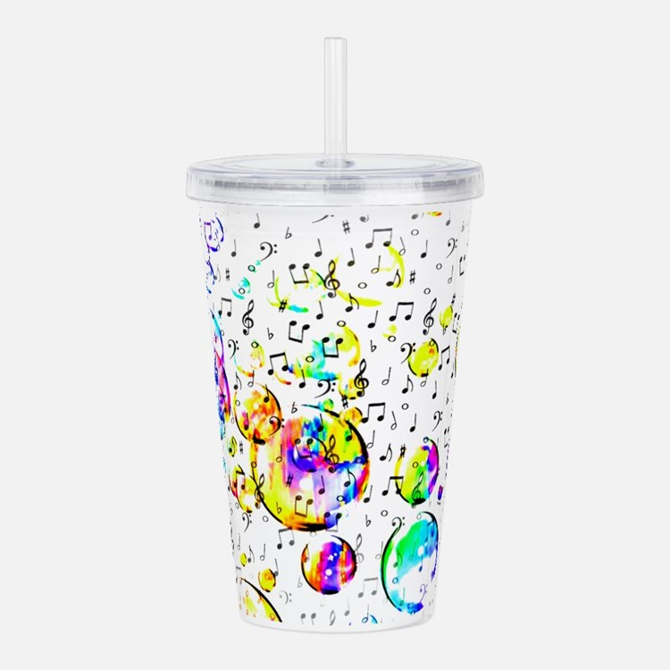 Cute Music notes Acrylic Double-wall Tumbler