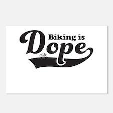 Biking is dope Postcards (Package of 8)