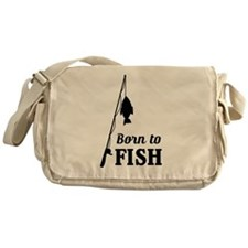 Born to fish Messenger Bag