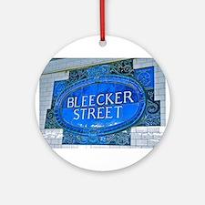 Bleeker Street : NYC Subway Ornament (Round)