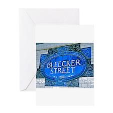 Bleeker Street : NYC Subway Greeting Cards