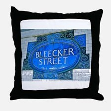 Bleeker Street : NYC Subway Throw Pillow