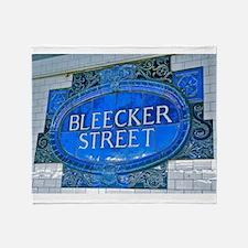 Bleeker Street : NYC Subway Throw Blanket